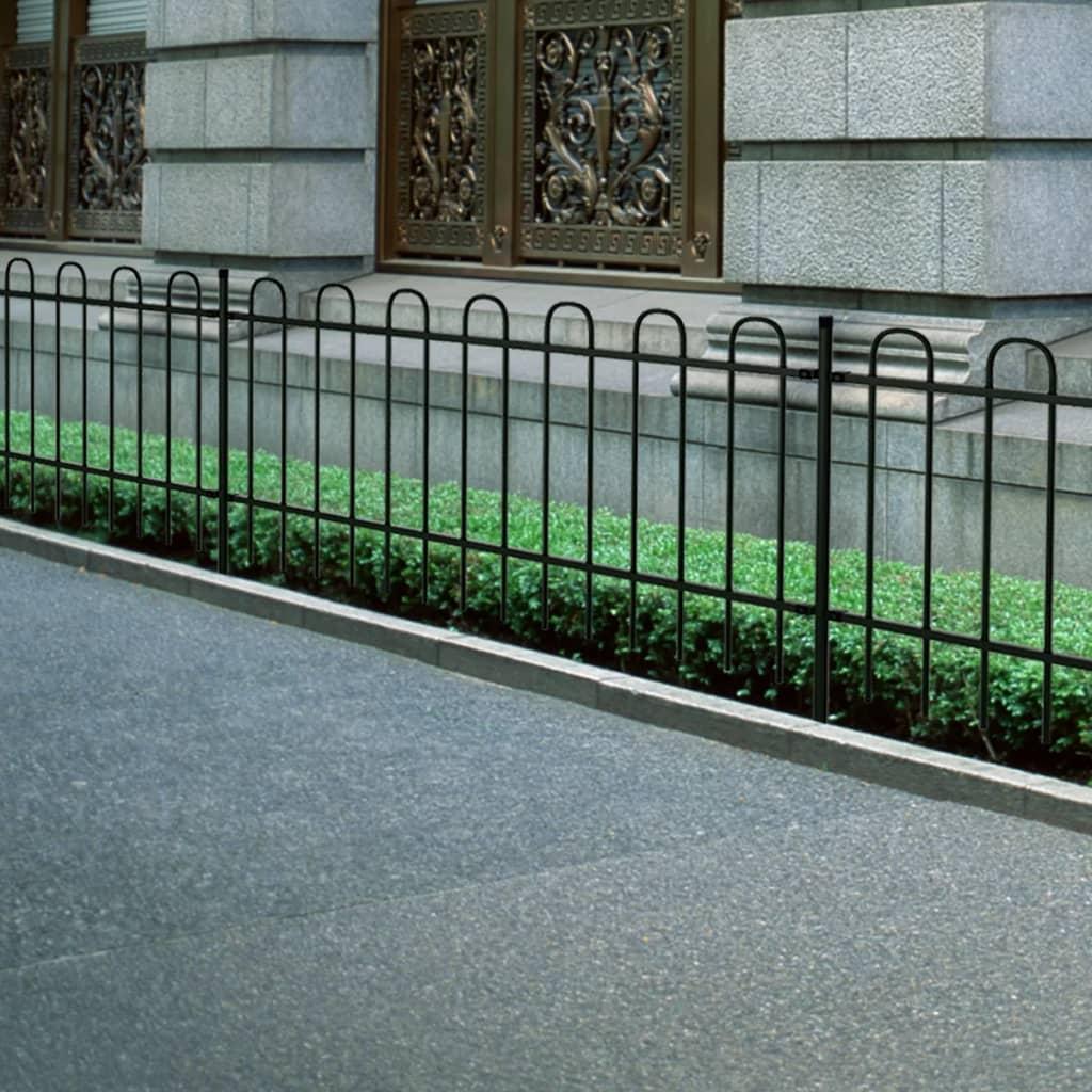 Kovaný ornamentální plot s obloučky - 600 x 120 cm - černý