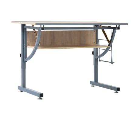 vidaXL Table à dessin pour adolescents Chêne 110x60x87 cm MDF[2/9]