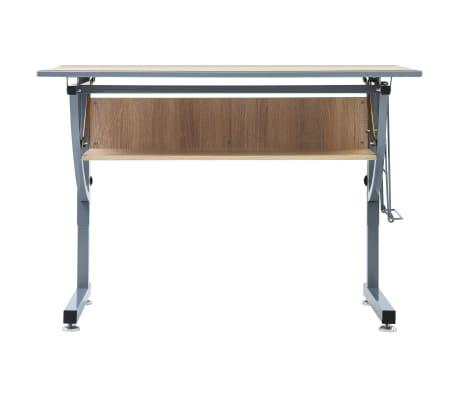 vidaXL Braižymo stalas paaugliams, ąžuolo spalvos, 110x60x87cm, MDF[3/9]