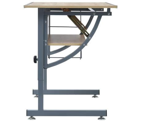 vidaXL Braižymo stalas paaugliams, ąžuolo spalvos, 110x60x87cm, MDF[4/9]