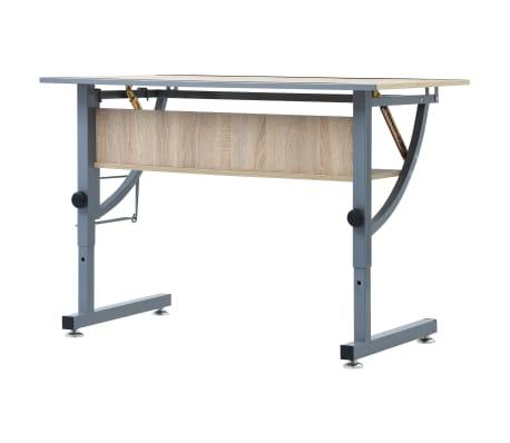 vidaXL Table à dessin pour adolescents Chêne 110x60x87 cm MDF[5/9]
