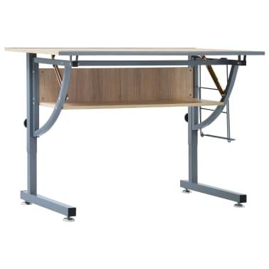 vidaXL Braižymo stalas paaugliams, ąžuolo spalvos, 110x60x87cm, MDF[2/9]