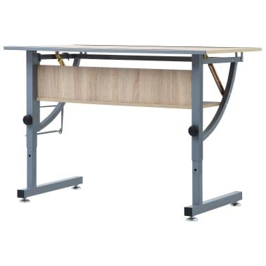 vidaXL Braižymo stalas paaugliams, ąžuolo spalvos, 110x60x87cm, MDF[5/9]