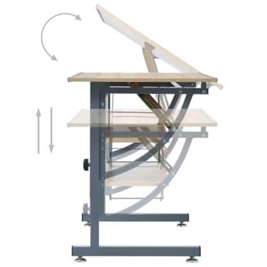 vidaXL Braižymo stalas paaugliams, ąžuolo spalvos, 110x60x87cm, MDF[6/9]