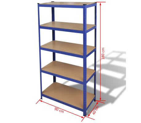 vidaXL Storage Shelf Blue[7/7]