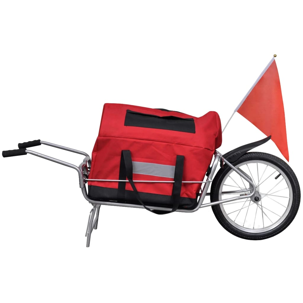 vidaXL Nákladní vozík za kolo jednostopý s úložným vakem