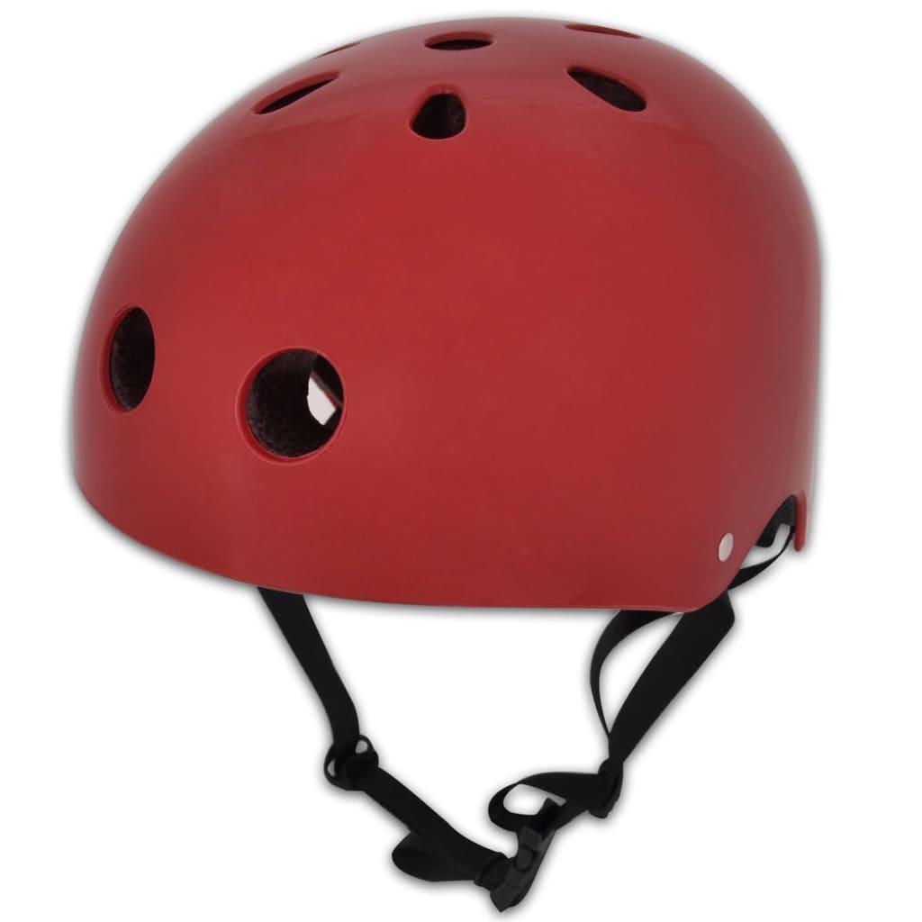 Cască ciclism roșie BMX L 58 - 61 cm poza 2021 vidaXL