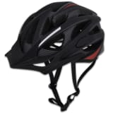 Bicycle Helmet with Removable Visor In-mould Black-Red L 58 - 61 cm