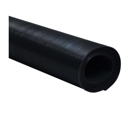 Rubber Floor Mat Anti-Slip 7' x 3' Fine Ribbed[2/5]
