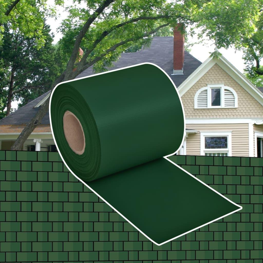 PVC pás / clona na plot - 70 x 0,19 m - zelená
