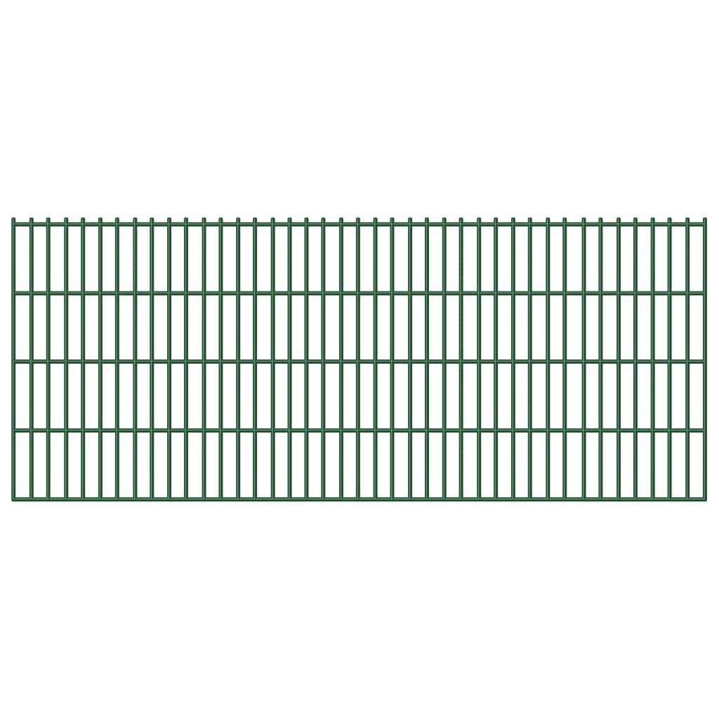 vidaXL Panou gard grădină 2D, 5 buc., verde, 83 cm, 10 m vidaxl.ro