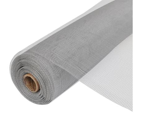 vidaXL Plasă de sârmă, argintiu, 150 x 1000 cm, aluminiu