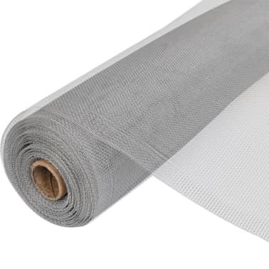Gaas aluminium op rol voor hordeuren en -ramen 150 x 1000 cm zilver[1/5]