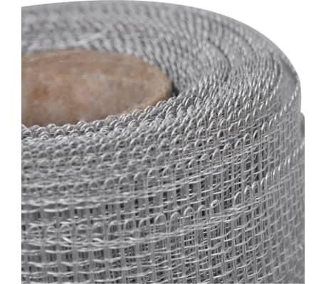 Gaas aluminium op rol voor hordeuren en -ramen 150 x 1000 cm zilver[4/5]