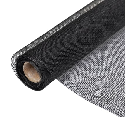 vidaXL Mesh Screen Fiberglass 100x500 cm Black