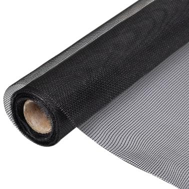 Nät av fiberglas till Dörr/Fönster 100 x 500 cm Svart[1/5]