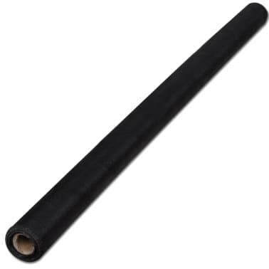 Nät av fiberglas till Dörr/Fönster 100 x 500 cm Svart[2/5]