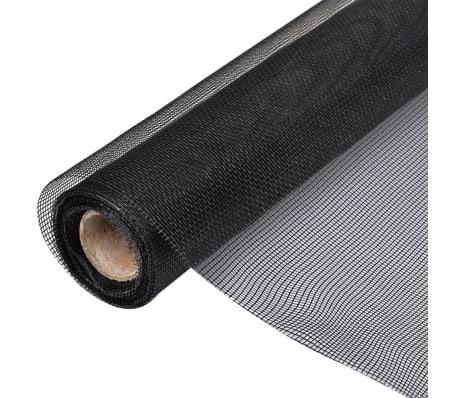 toile moustiquaire de porte fen tre fibre de verre 100x1000cm noir. Black Bedroom Furniture Sets. Home Design Ideas