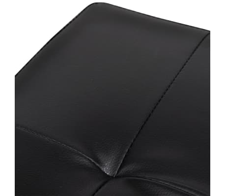 Foldable Storage Stool Ottoman Footstool Black 2 pcs[4/5]