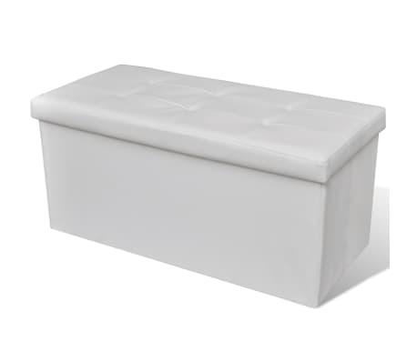 Banc de rangement pliable Blanc[1/5]