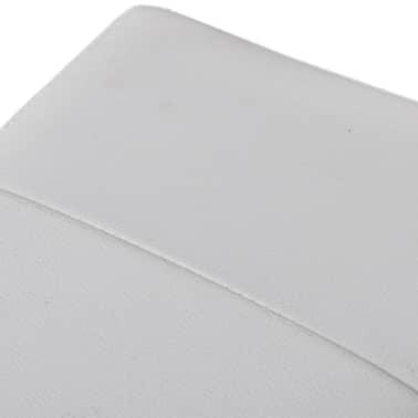 Banc de rangement pliable Blanc[4/5]
