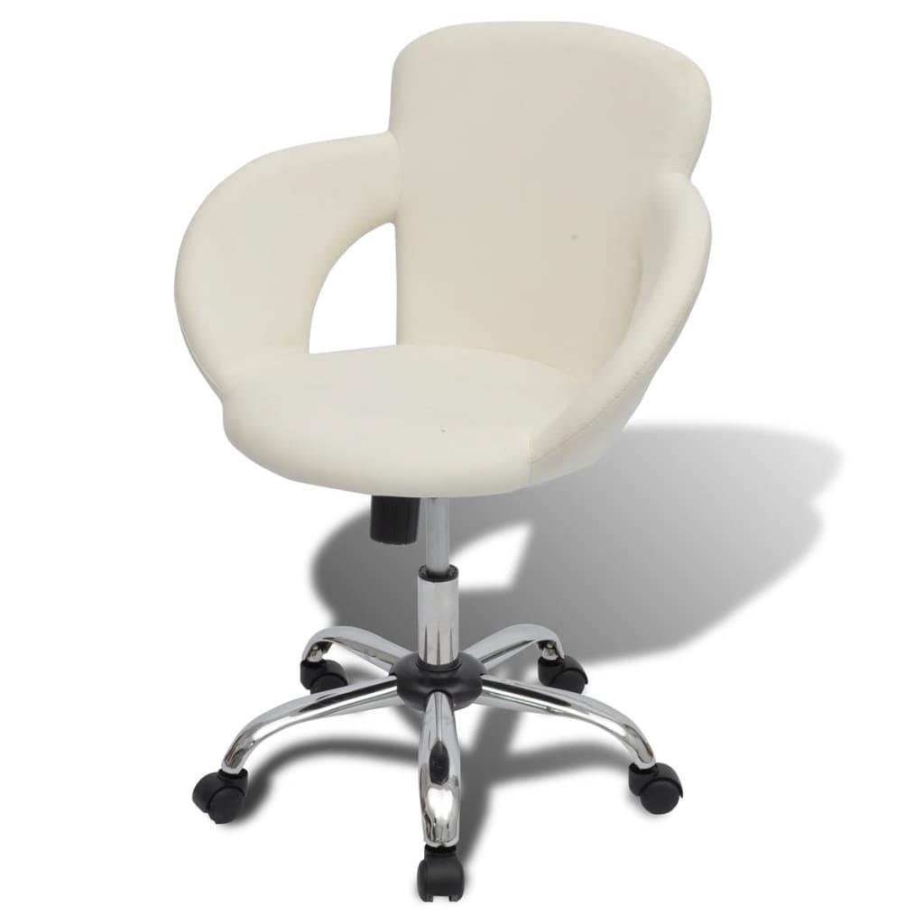 Profesionální otočná židle do salonů krásy/spa, bílá, s područkami