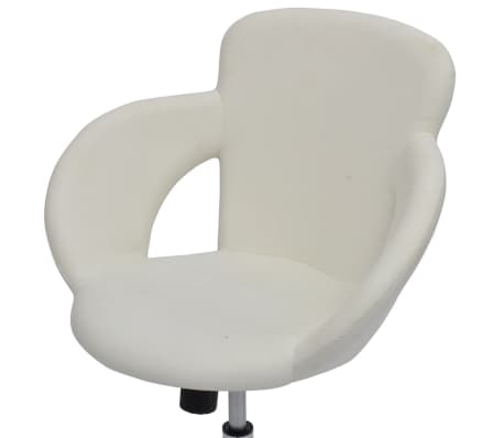 Professional Salon Spa Stool Swivel Stool White with Armrest[4/6]