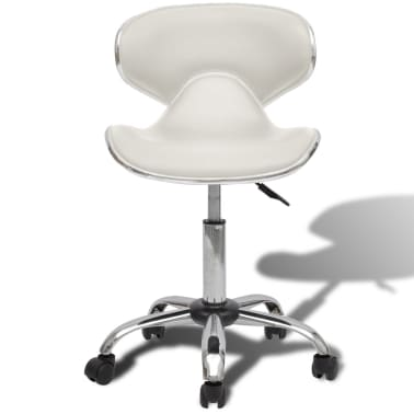 Professional Salon Spa Stool Curve Design with Backrest White[2/5]