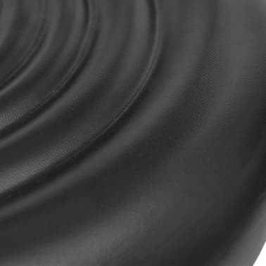 Professional Salon Spa Stool Black Round Seat with Backrest[5/5]
