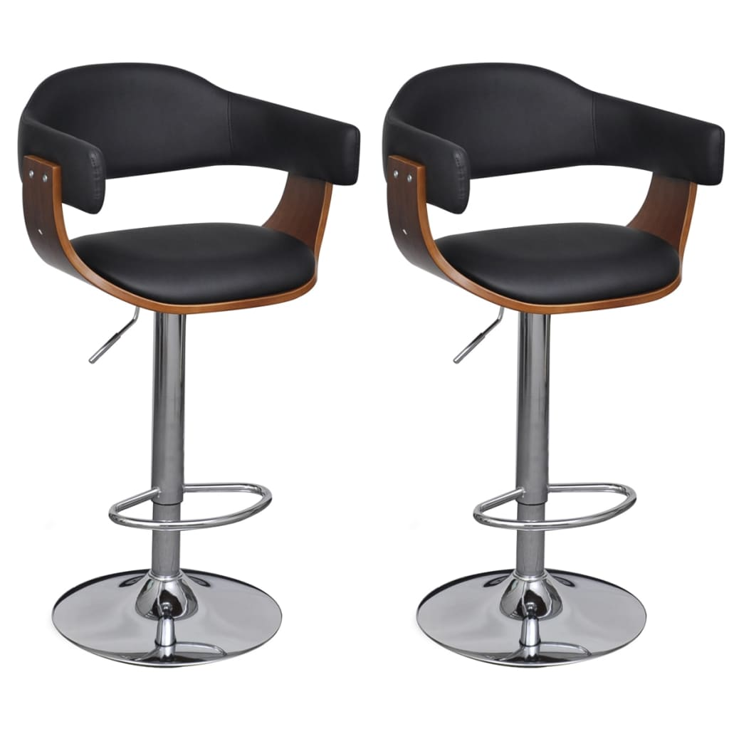 vida-xl-artificial-leather-bar-stool-height-adjustable-backrest-armrest