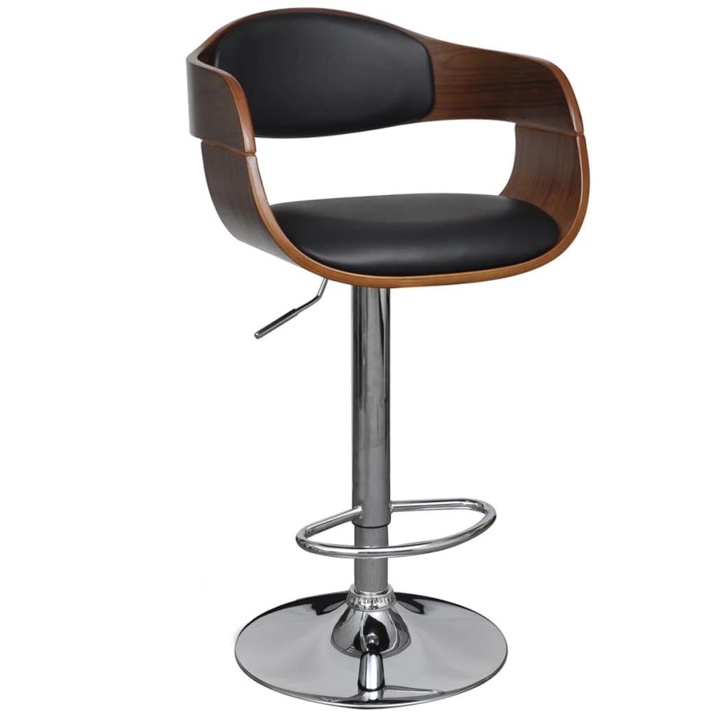 vida-xl-leather-bar-stool-chair-height-adjustable-with-backrest-armrest