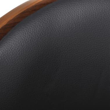 vidaXL Barkruk gebogen hout en kunstleer[4/6]