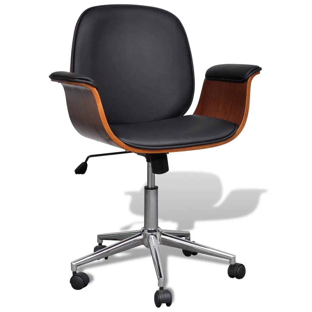 vidaXL Καρέκλα γραφείου Περιστρεφόμενη Συνθετικό δέρμα Ρυθμιζόμενη