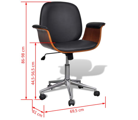 Artificial Leather Modern Swivel Chair Arm Chair Adjustable[7/7]