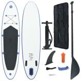 SUP surfingbräda uppblåsbar blå och vit