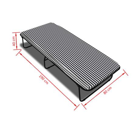 vidaxl bett mit matratze 190 80 40 cm klappbar g nstig kaufen. Black Bedroom Furniture Sets. Home Design Ideas