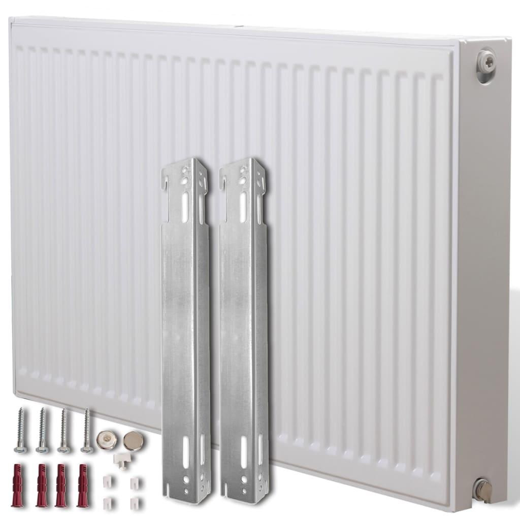 Dvoudeskový radiátor s bočním připojením - 60 x 10 x 60 cm - bílý