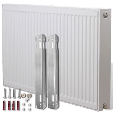 White Compact Convector Radiator Side Connectors 120 x 10 x 60 cm[1/8]