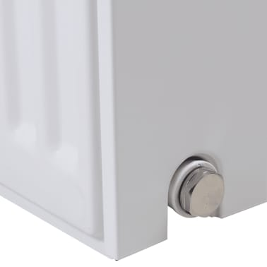 White Compact Convector Radiator Side Connectors 120 x 10 x 60 cm[3/8]