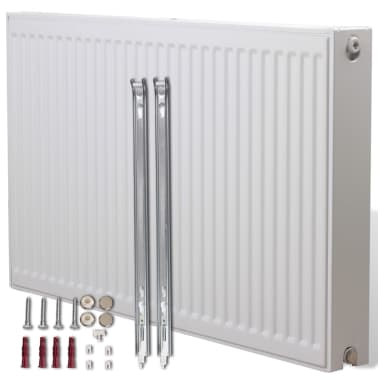 White Compact Convector Radiator Bottom Connectors 120 x 10 x 60 cm[1/8]