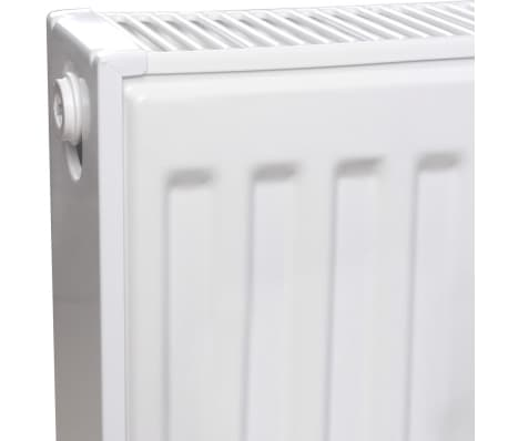 White Compact Convector Radiator Bottom Connectors 120 x 10 x 60 cm[3/8]