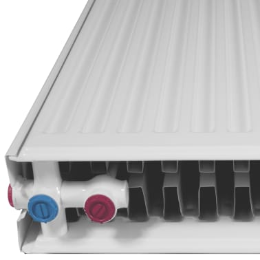 White Compact Convector Radiator Bottom Connectors 120 x 10 x 60 cm[5/8]