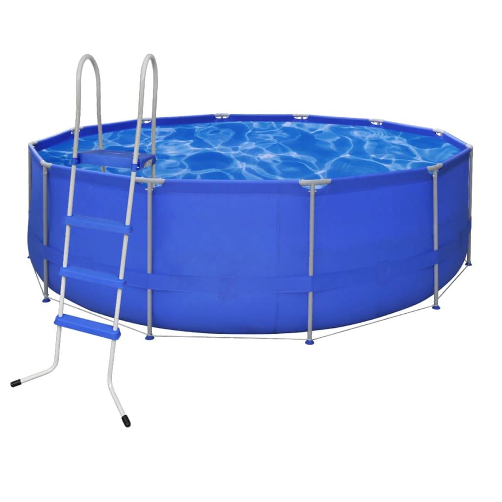 Kulatý bazén s ocelovým rámem 457 x 122 cm s žebříkem
