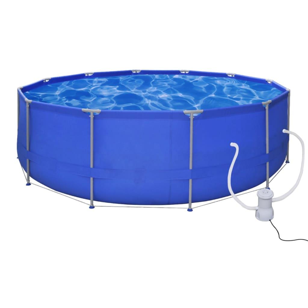 vidaXL Bazén kulatý 457 cm s filtrační pumpou 2000 l/h