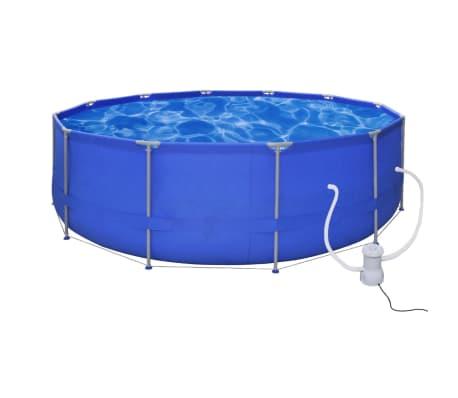 Schwimmbad Pool Schwimmbecken 457 X 122 Cm + Pumpe[1/8]