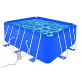 vidaXL Swimming Pool with Pump Steel 400 x 207 x 122 cm