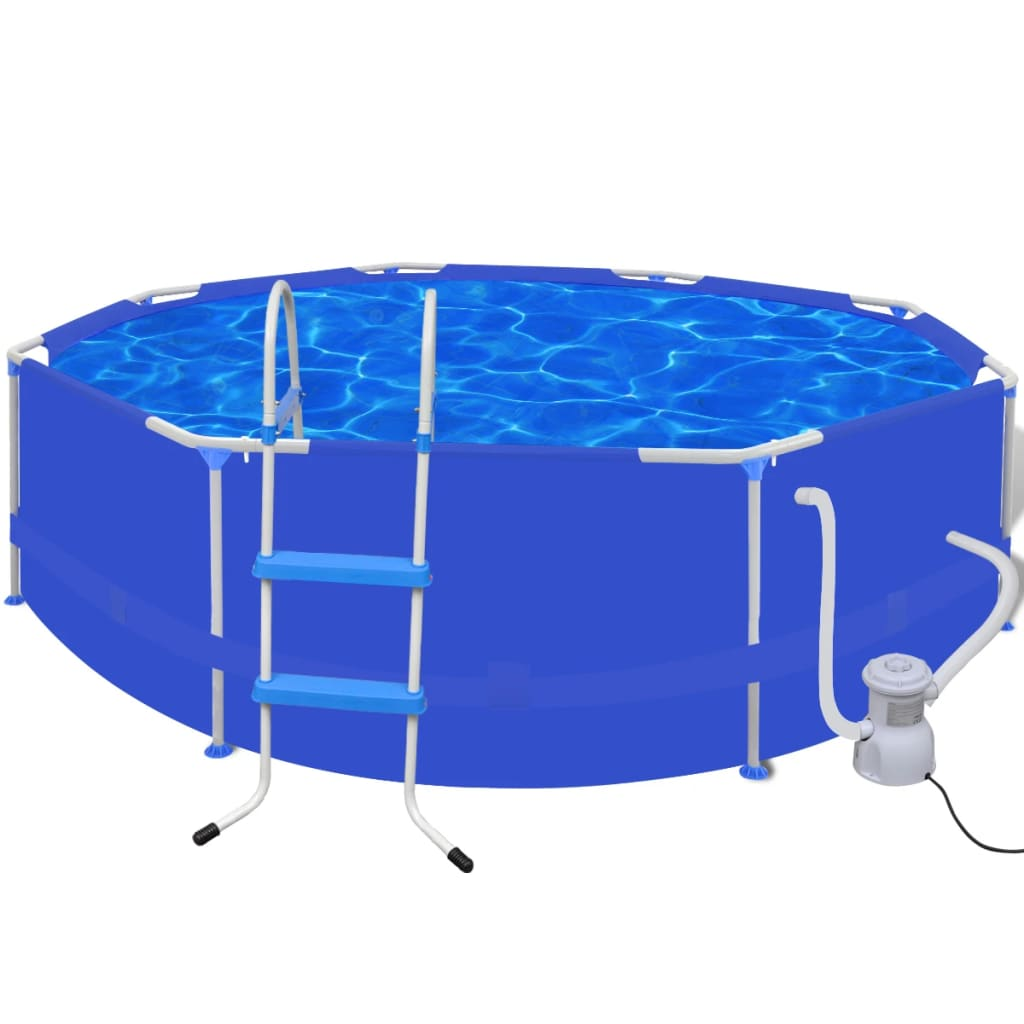 Bazén kulatý 300 cm s žebříkem a filtračním čerpadlem 300 gal/h