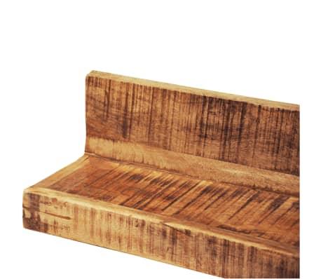 Solid Wood Wall Mounted Display Shelf 2 pcs[3/8]