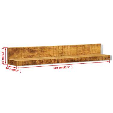 Solid Wood Wall Mounted Display Shelf 2 pcs[6/8]