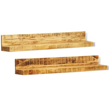 Solid Wood Wall Mounted Display Shelf 2 pcs[7/8]